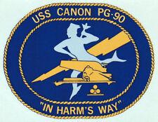 USN US NAVY USS CANON PG-90 ASHEVILLE CLASS CREST LOGO CUSTOM MUG CUP STEIN