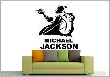 Wandtattoo wandaufkleber wandsticker photo tanzen Porträt michael jackson wph38