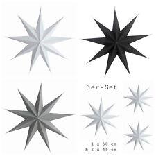 House Doctor Stern Weihnachtsstern Papierstern star weiß grau schwarz 45 60 87cm