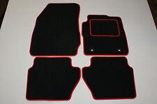Ford FIESTA MK7 2008-2011 black tailored car mats F125 COLOURED BINDING