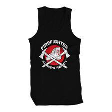 FireFighter Always Ready Smoke Jumper Engine Man Mens Tank Top