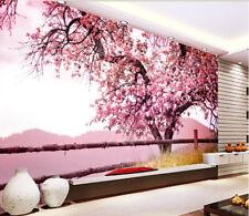 3D Pink Flower Tree Nature 546 Wall Paper Wall Print Decal Wall AJ WALLPAPER CA
