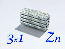 3x1mm magneti neodimio zincati VARIE QUANTITA' FIMO CERNIT MODELLISMO MAGNETE