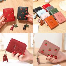 Women's Short Small Wallet Lady Leather zipper Coin Card Holder Money Purse