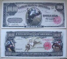 SEGNALIBRO banconota DOLLARO Cavalli RODEO Far West Cowboy Ippica feste western