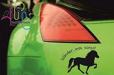 A 826- Isländer was sonst Isi Reiten Westernreiten Aufkleber Autoaufkleber Pferd