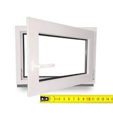 Kunststofffenster Kellerfenster Fenster 3-Fach weiß Wohnung Zwischengrößen