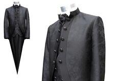 Herren Hochzeitsanzug Cutaway Gehrock Schwarz