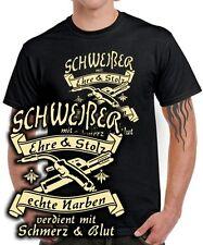 T-Shirt SCHWEIßER EHRE STOLZ NARBEN SCHMERZ BLUT Spruch Arbeit Kleidung FUN