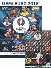 Panini Adrenalyn Euro 2016 Limited XXL Ronaldo Neuer Kallstrom BINDER GRATIS