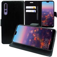 Pour Huawei P20 LITE - Etui Housse Portefeuille en Cuir synthétique noir