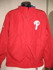 MLB Philadelphia Phillies Baseball Double Climate Coat w Zip Out Jacket Majestic