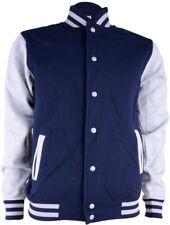 Klassische BASEBALL JACKE / College Jacke für MÄNNER Blau Rockabilly