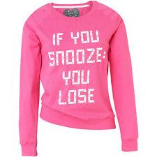 Love To Sleep If You Snooze You Lose Womens Pyjama Lounge Top Long Sleeve Jersey