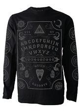 OUIJA BOARD grey font  Men's Longsleeve Darkside Occult Range sizes M - 2XL