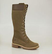 "Timberland 14"" INCH PREMIUM Boots Waterproof Damen Winter Stiefel Taupe NEU"