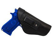New Barsony Black Leather IWB Gun Holster for Ruger Star Full Size 9mm 40 45