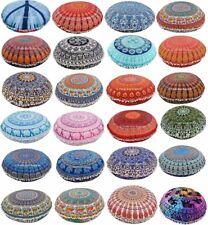 "Indian Mandala Cushion Cover Bohemian Round 32"" Throw Large Floor Pillow Case"