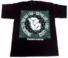 Marijuana T-shirt 420 Mickey Hands Smoking  Weed Tee Adult XL-4XL Black New