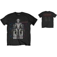 Queen European Tour 1984 Freddie Mercury Rock ufficiale Uomo maglietta unisex