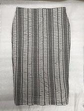 JustFab Lush Check Midi Skirt