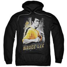 Bruce Lee Yellow Dragon Mens Pullover Hoodie Black