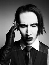 Marilyn Manson BW Portrait Heavy Metal Shock Rock 2014 Huge Print POSTER Affiche