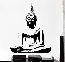 Wall Decal Budhha Smiling Buddhism Yoga Home Interior Decor z4039