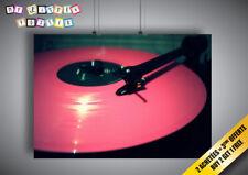 Poster Pink Vinyl DJ Platine Wall Art