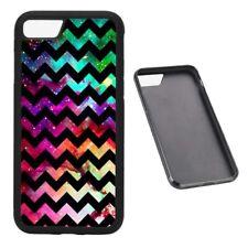 Chevron Galaxy Pattern RUBBER phone case Fits iPhone