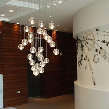 110V Modern Duplex Staircase Bubble Crystal Pendant Home Lights Glass Ball Lamp
