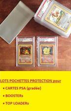 ★★ LOT POCHETTES de PROTECTION POKEMON PSA TOP LOADER BOOSTER 10 20 50 100