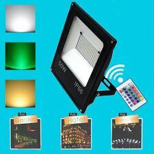 Outdoor 20W 30W RGB Waterproof LED Flood Light Landscape Lamp W/ Remote Control