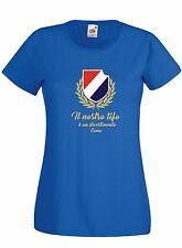 T-shirt Maglietta donna J1744 Il Nostro Tifo è Divertimento Como Ultras