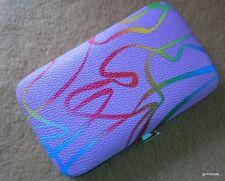 New Nib Manicure Set Lavender 4.5 x 2.5 Case + 6 Color Coordinated Nail Tools
