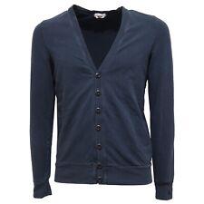 5292Q cardigan vintage effect uomo CYCLE cotone blu maglia jumpers men