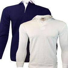 Camiseta De Rugby Jersey Camisa De Manga Larga Infantil 100% Algodón Escuela/