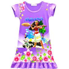 US Stock! Moana Girls Kids Nightgown Pajamas Sleepwear Dress [O52]