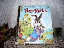LITTLE GOLDEN BOOK PETER RABBIT BY BEATRIX POTTER 1982