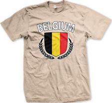 Belgium Shield Crest Coat Of Arms Belgian Country Born From BEL BE Men's T-Shirt