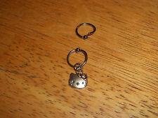 Hello Kitty Tragus Cartilage Captive Ring 16g, 3/8 & 1/2