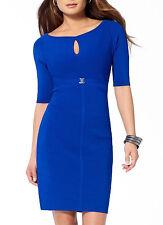 NWT Cache SEXY Blue THICK Stretch BANDAGE Dress S 2-4  M  6-8  L 10-12