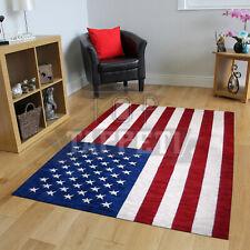 CLASSIC FLAG - TAPPETO MODERNO CINIGLIA ARREDO SALOTTO BANDIERA AMERICA USA