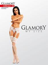 Glamory Strapsstrümpfe Dream 20, transparent-glänzend, bis Größe 62, 50135