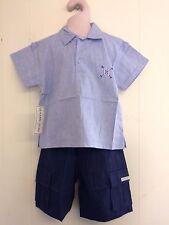 Precioso AZUL PÁLIDO Algodón Camisa & Navy Pantalones de Hamilton edad 2, 3 o 4yrs BNWT!