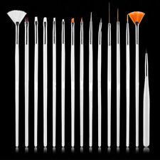15Pcs/Set Nail Art Decorations Brush Painting Pen Liner Brushes Nail Tool Tips