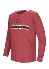 NWT Arkansas Razorbacks long sleeve Waffle Knit T  Youth  size   XLarge XL   $42
