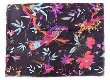 Indian Black Hand Block Bird Print 100% Cotton Fabric Indian Dress Fabric By YD