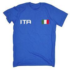 ITALIA Bandiera T-SHIRT ITALIA ITALIANO Sport Calcio in Rugby Regalo di Natale