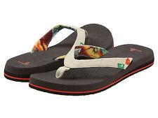 Women Sanuk Yoga Paradise Flip Flop Sandal SWS2182 Tan 100% Authentic New